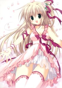 Rating: Questionable Score: 42 Tags: dress korie_riko pantsu see_through thighhighs User: fireattack