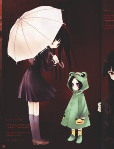 Rating: Safe Score: 12 Tags: crease enma_ai jigoku_shoujo ririka seifuku umbrella User: Radioactive