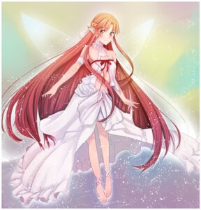 Rating: Safe Score: 30 Tags: asuna_(sword_art_online) dress elf ladymarta pointy_ears sword_art_online wings User: fairyren