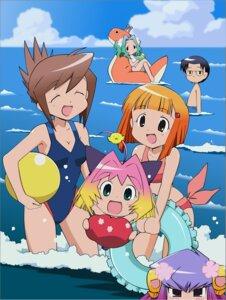 Rating: Safe Score: 8 Tags: bikini guchuko kasugano_nene moriyama_sunao natsu_mikan potemayo potemayo_(character) swimsuits takamimori_kyo vector_trace User: Anonymous