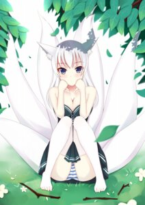 Rating: Questionable Score: 61 Tags: animal_ears cleavage feet kitsune otono_fei pantsu shimapan tail thighhighs User: MurakumoJP