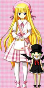Rating: Safe Score: 13 Tags: chachazero chibi devil dress evangeline_athanasia_katherine_mcdowell fishnets kiiro lolita_fashion mahou_sensei_negima pantyhose seifuku wings User: Radioactive