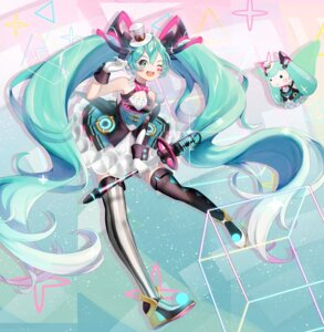 Rating: Safe Score: 13 Tags: dress hatsune_miku ichigo_mayonnaise tattoo thighhighs vocaloid User: charunetra