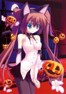 Rating: Questionable Score: 57 Tags: animal_ears erect_nipples halloween kokonobi nekomimi pantyhose tail User: midzki