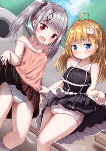 Rating: Questionable Score: 28 Tags: dress loli mochiyuki pantsu shimapan skirt_lift User: yanis