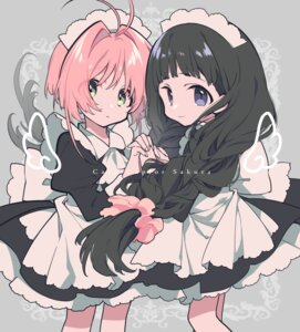 Rating: Safe Score: 18 Tags: card_captor_sakura daidouji_tomoyo kinomoto_sakura maid mochizuki_kei User: nphuongsun93