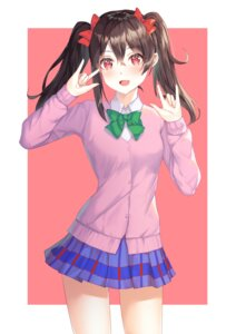 Rating: Safe Score: 15 Tags: kokose love_live! seifuku sweater yazawa_nico User: Dreista