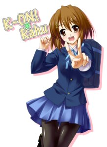 Rating: Safe Score: 8 Tags: hirasawa_yui k-on! pantyhose seifuku shindou_shuuji User: blooregardo