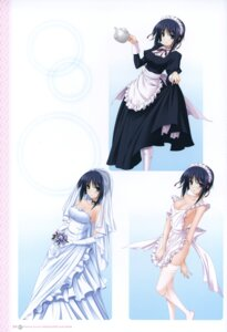 Rating: Questionable Score: 55 Tags: cleavage dress fujikura_yuu komori_kei maid naked_apron pantsu princess_lover! scanning_resolution screening stockings thighhighs wedding_dress User: YamatoBomber