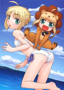 Rating: Safe Score: 8 Tags: bikini fate/stay_night hirai_yukio saber saber_lion swimsuits type-moon User: Radioactive
