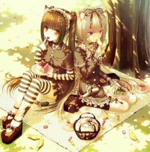 Rating: Safe Score: 87 Tags: animal_ears chocola gothic_lolita lolita_fashion nekomimi sayori tail thighhighs vanilla User: Aurelia