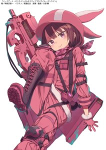 Rating: Safe Score: 33 Tags: gun kohiruimaki_karen kuroboshi_kouhaku llenn sword_art_online_alternative:_gun_gale_online uniform User: ZeroDS