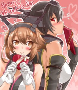 Rating: Safe Score: 25 Tags: kantai_collection mutsu_(kancolle) nagato_(kancolle) okitakung valentine User: fairyren