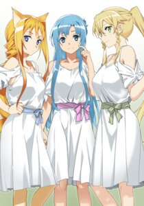 Rating: Questionable Score: 50 Tags: abec alice_schuberg asuna_(sword_art_online) dress leafa sword_art_online User: Mekdra