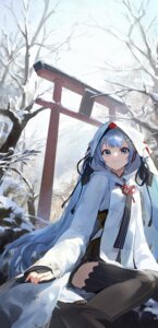 Rating: Safe Score: 34 Tags: hatsune_miku japanese_clothes mossi thighhighs vocaloid yuki_miku User: Mr_GT