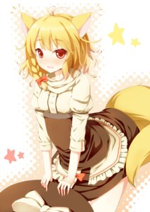 Rating: Safe Score: 42 Tags: animal_ears dabadhi kirisame_marisa kitsune tail touhou User: Nekotsúh