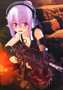 Rating: Questionable Score: 43 Tags: blood cg cleavage cosplay gears_of_war gun headphones sonico super_sonico User: NeoReaper