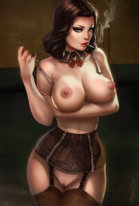 Rating: Explicit Score: 36 Tags: bioshock bioshock_infinite bottomless bra breast_hold breasts dandon_fuga lingerie nipples pussy smoking stockings thighhighs uncensored undressing User: Kramansith