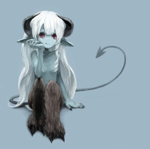 Rating: Questionable Score: 41 Tags: devil horns loli monster_girl pointy_ears tail toi topless User: Radioactive