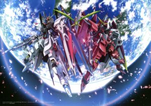 Rating: Safe Score: 27 Tags: freedom_gundam gun gundam gundam_seed justice_gundam mecha shigeta_satoshi weapon wings User: drop