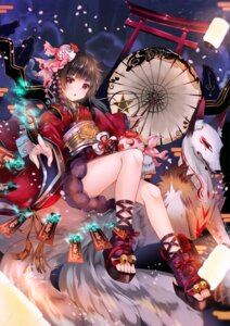 Rating: Safe Score: 91 Tags: duji_amo japanese_clothes kagura_(onmyoji) onmyouji umbrella User: Mr_GT