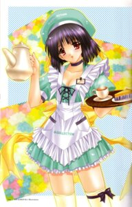 Rating: Safe Score: 10 Tags: cleavage kimizuka_aoi thighhighs waitress User: Davison