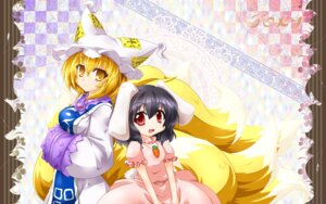 Rating: Safe Score: 13 Tags: animal_ears bunny_ears inaba_tewi kazami_karasu tail touhou yakumo_ran User: Mr_GT