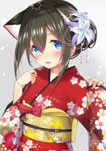 Rating: Safe Score: 41 Tags: animal_ears go-1 kimono nekomimi sagisawa_fumika the_idolm@ster the_idolm@ster_cinderella_girls User: Mr_GT