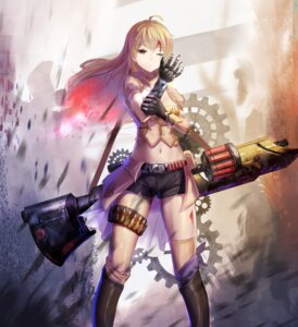 Rating: Questionable Score: 89 Tags: blood gun red_flowers rwby thighhighs yang_xiao_long User: Mr_GT