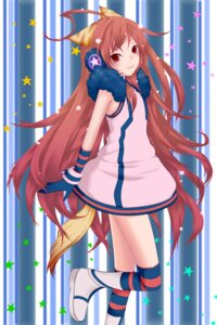 Rating: Safe Score: 11 Tags: animal_ears dress headphones miki_(vocaloid) momo_michi thighhighs vocaloid User: charunetra