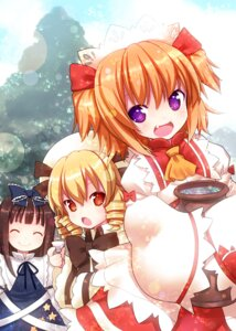 Rating: Safe Score: 31 Tags: kiira luna_child star_sapphire sunny_milk touhou User: fairyren