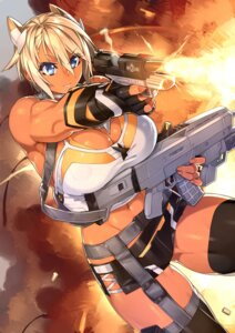 Rating: Safe Score: 38 Tags: cleavage gun phantasy_star_online_2 real_xxiii stockings thighhighs User: Mr_GT