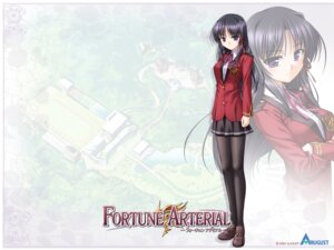 Rating: Safe Score: 15 Tags: bekkankou fortune_arterial kuze_kiriha pantyhose seifuku wallpaper User: admin2