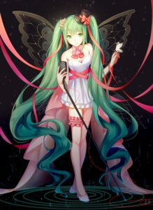 Rating: Safe Score: 47 Tags: cleavage dress garter hatsune_miku heels plipa vocaloid wings User: charunetra