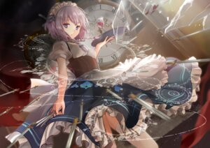 Rating: Safe Score: 22 Tags: elise_(piclic) izayoi_sakuya maid thighhighs touhou weapon User: Mr_GT