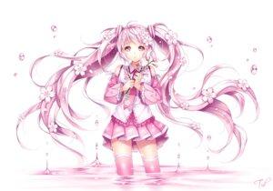 Rating: Safe Score: 76 Tags: hatsune_miku sakura_miku thighhighs tid vocaloid User: fairyren