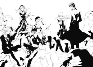 Rating: Questionable Score: 9 Tags: 35 beatrice dress monochrome umineko_no_naku_koro_ni ushiromiya_ange ushiromiya_battler ushiromiya_lion willard_h_wright User: ghoulishWitchhx