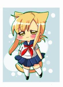 Rating: Safe Score: 3 Tags: animal_ears chibi mizuno_kaede nekomimi nyan_koi seifuku tail yamada_(artist) User: Radioactive