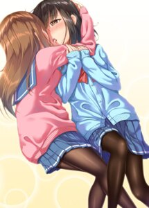 Rating: Questionable Score: 26 Tags: gurande pantyhose seifuku sweater yuri User: Mr_GT