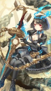 Rating: Safe Score: 57 Tags: alice_(sinoalice) cleavage dress heels sinoalice sword yumeichigo_alice User: Mr_GT