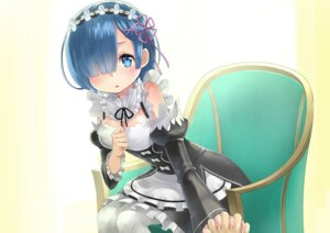 Rating: Safe Score: 19 Tags: cleavage maid pantyhose re_zero_kara_hajimeru_isekai_seikatsu rem_(re_zero) rin2008 User: Mr_GT