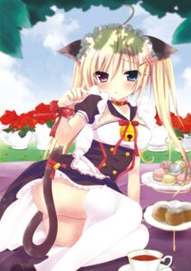 Rating: Questionable Score: 79 Tags: 99tsukumo animal_ears ass heterochromia maid moe2015 nekomimi nopan tail thighhighs User: Mr_GT