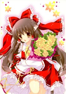 Rating: Safe Score: 27 Tags: animal_ears hakurei_reimu nekomimi shigunyan touhou User: midzki