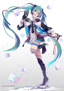 Rating: Safe Score: 47 Tags: hatsune_miku headphones heels hoshima thighhighs vocaloid User: Mr_GT