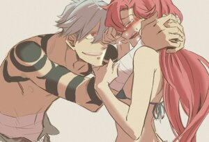 Rating: Safe Score: 14 Tags: bikini_top kamina katou_haruaki tengen_toppa_gurren_lagann yoko User: Jamble
