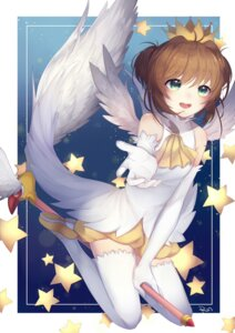 Rating: Safe Score: 22 Tags: card_captor_sakura egg_(rxlal) kinomoto_sakura thighhighs wings User: charunetra