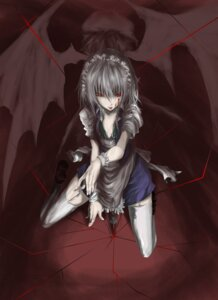 Rating: Safe Score: 28 Tags: blood izayoi_sakuya remilia_scarlet saimon_(pixiv) stockings thighhighs touhou wings User: MyNameIs