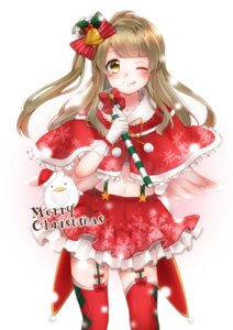Rating: Safe Score: 32 Tags: christmas fujisaki_hinako love_live! minami_kotori stockings thighhighs wings User: Mr_GT