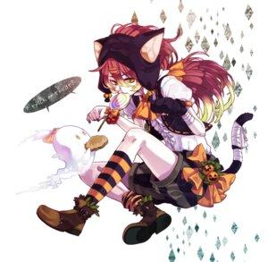 Rating: Safe Score: 19 Tags: animal_ears halloween nekomimi tail yamako User: hobbito