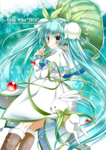 Rating: Safe Score: 26 Tags: dress hatsune_miku kanna_satsuki vocaloid yuki_miku User: fairyren